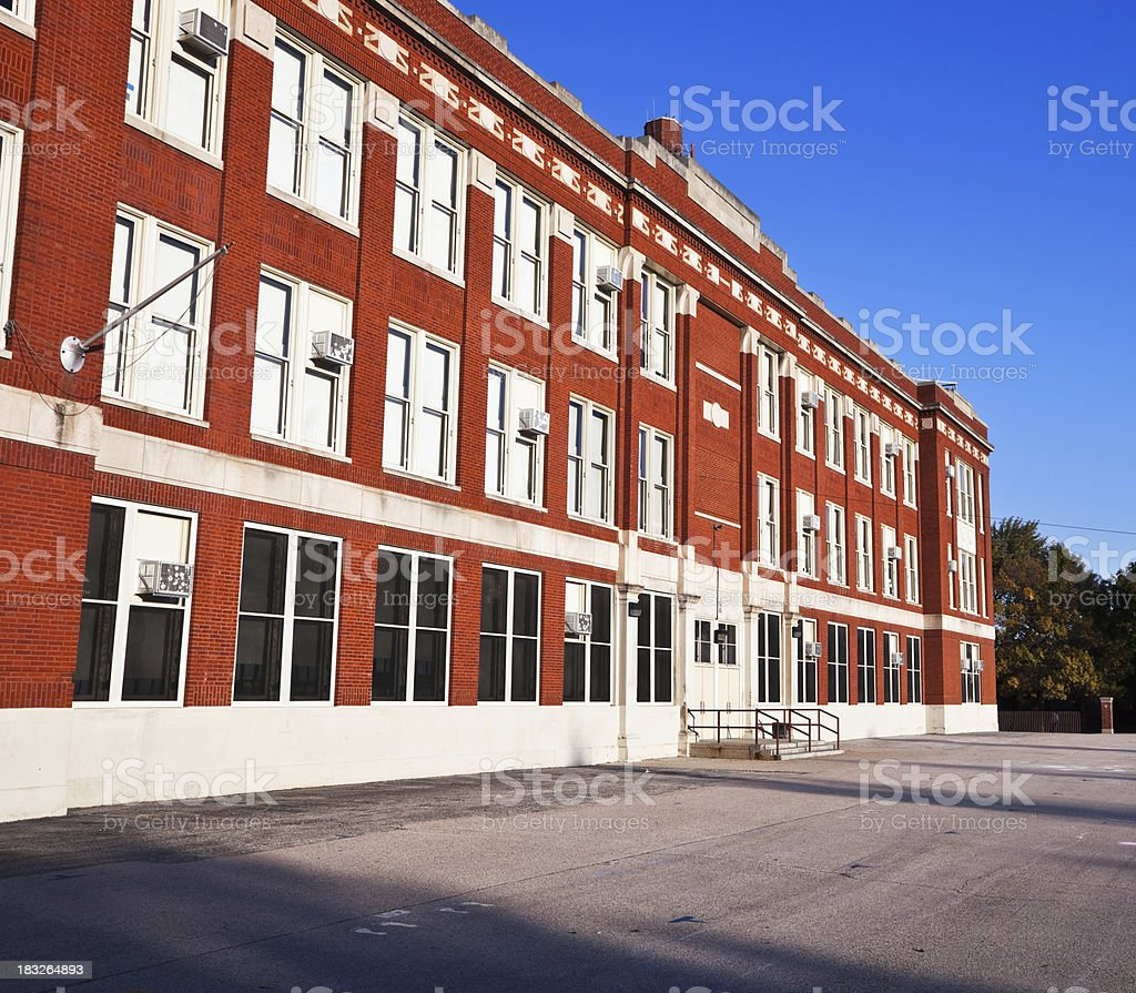 Thorp Public School in Dunning, Chicago royalty-free stock photo