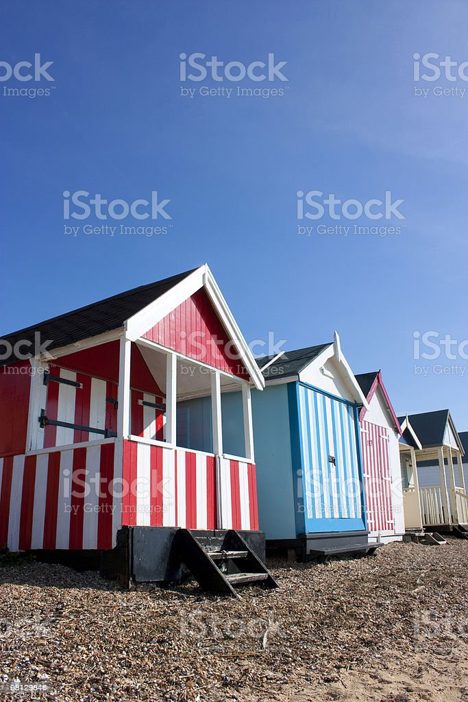 Thorpe Bay beach huts royalty-free stock photo