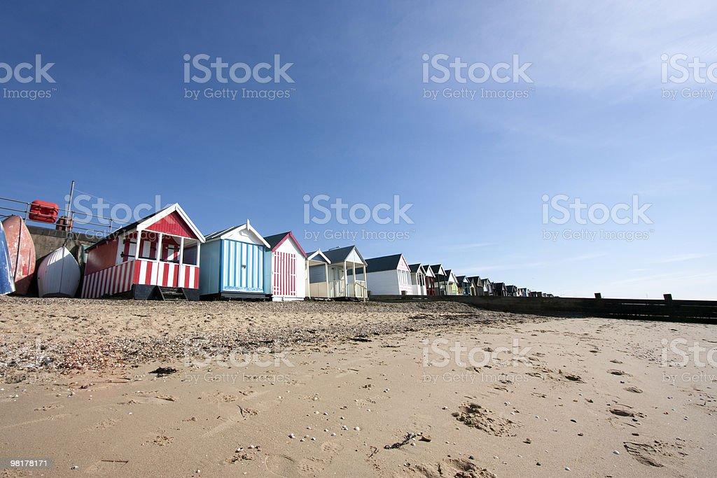 Thorpe Bay beach huts royalty-free stock photo