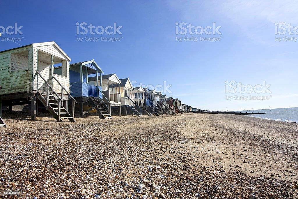 Thorpe Bay capanne sulla spiaggia foto stock royalty-free