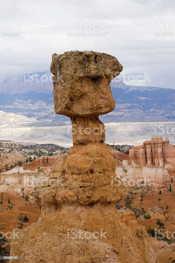 Thor's Hammer w południe-Bryce Canyon zbiór zdjęć royalty-free