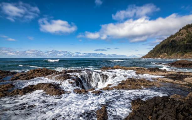 Thor es Well, Cape Perpetua, Oregon, USA, Color Image – Foto