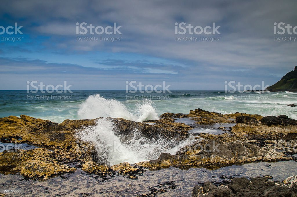 Thor's Well stock photo