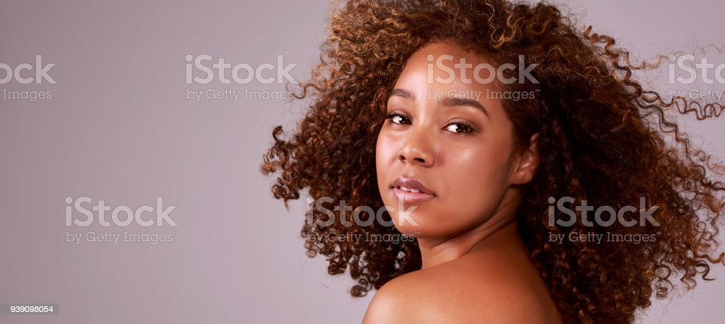Those curls though… stock photo
