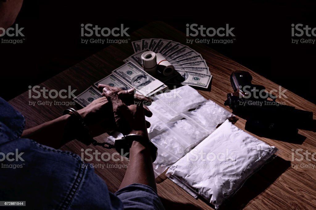 Those involved with drugs eventually were convicted or dead. stock photo