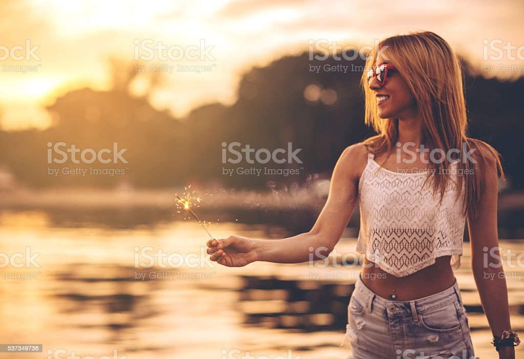 Those summer nights stock photo