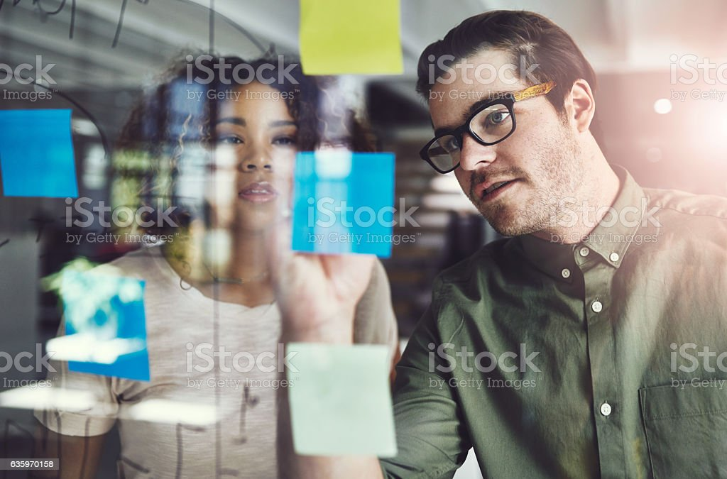 Those who plan, eventually succeed stock photo