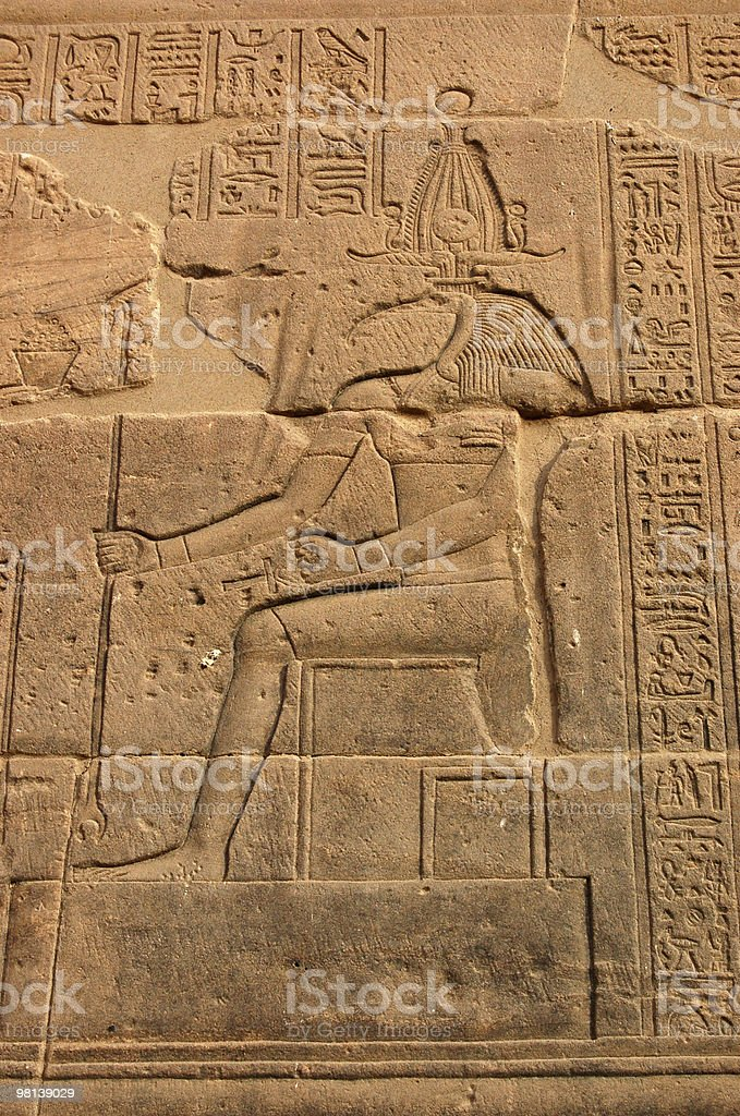 Thoth on throne royalty-free stock photo