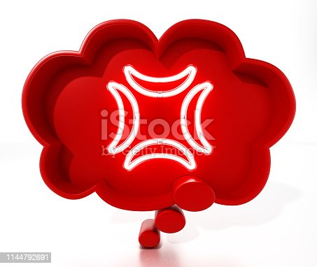 istock Thought balloon with anger symbol 1144792691