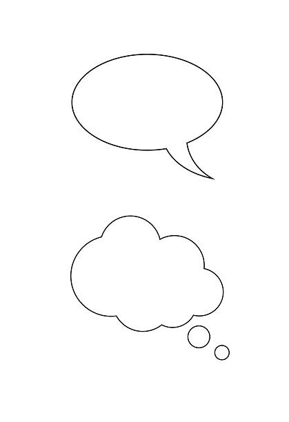 thought cloud - thought bubble stock photos and pictures
