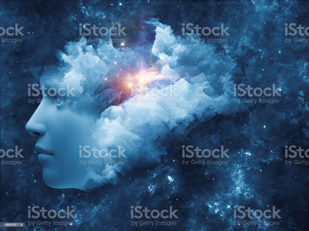 Thought Cloud stock photo