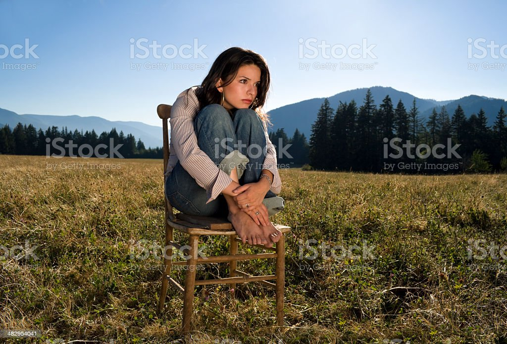 Thought in Lost royalty-free stock photo