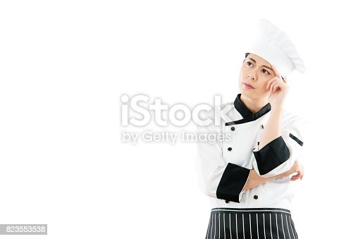 istock thoughtful asian female cook or chef 823553538