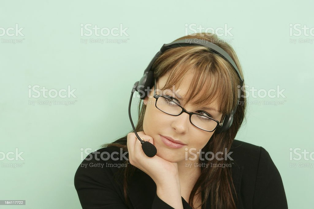 Thoughtful Assistance royalty-free stock photo