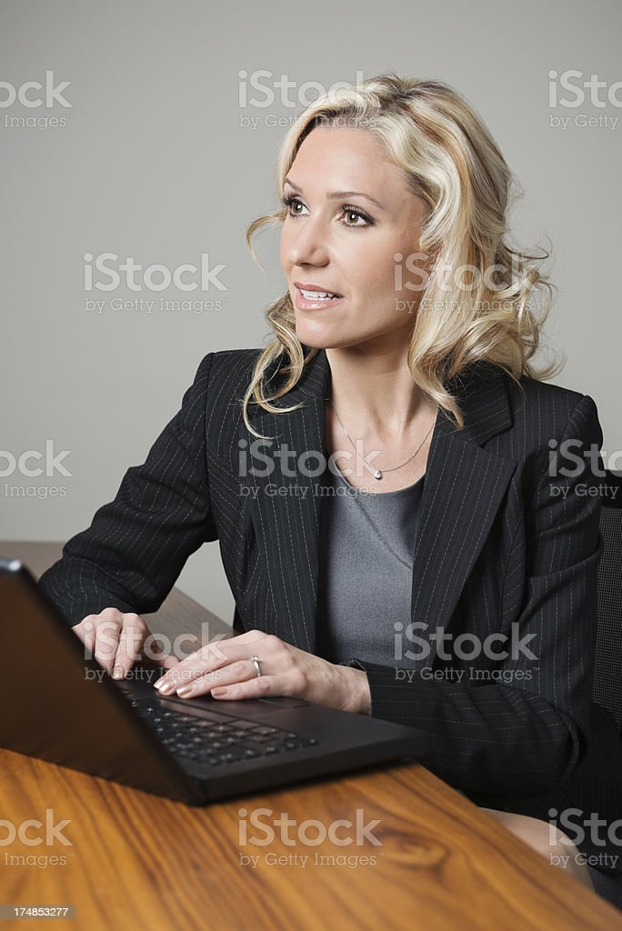 Thoughtful Business Executive royalty-free stock photo
