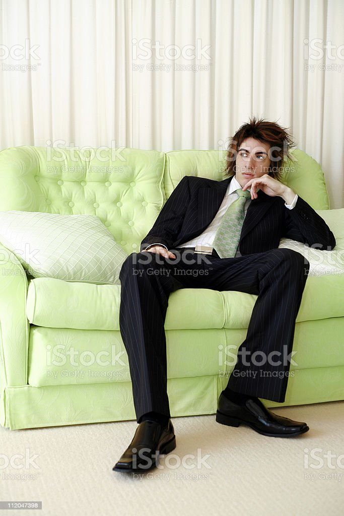 Thoughtful Business Man royalty-free stock photo