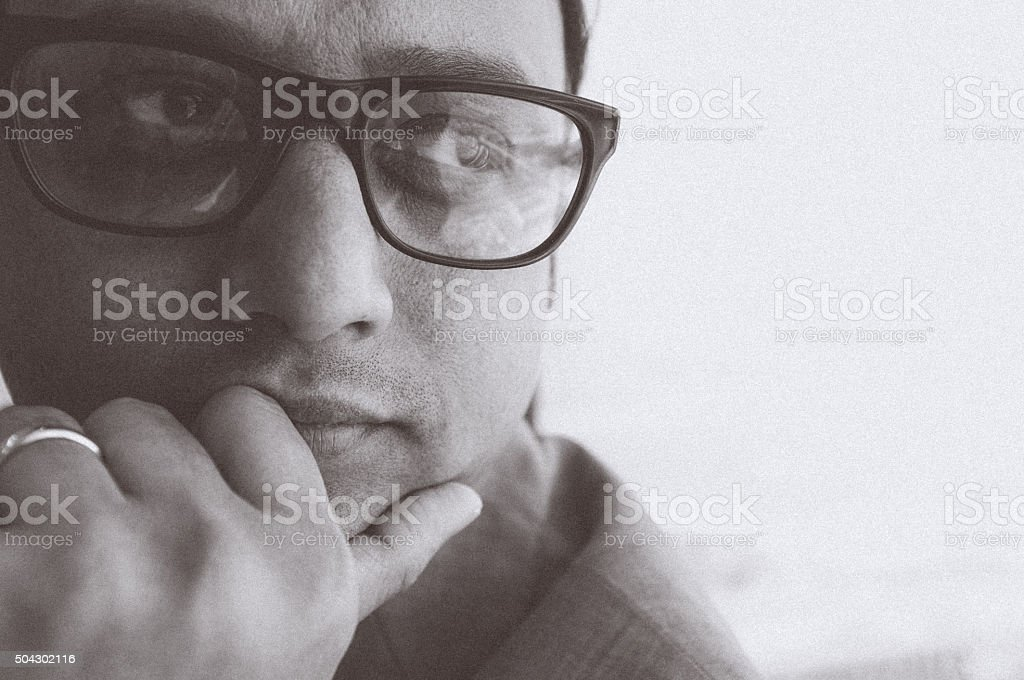 Thoughtful Business Professional stock photo