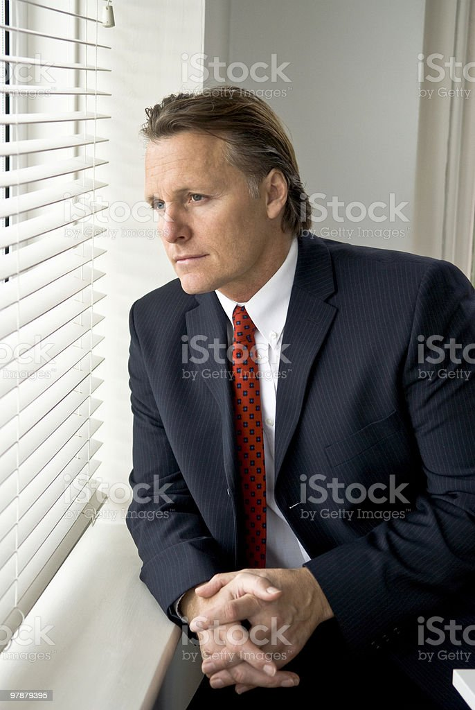 Thoughtful businessman royalty-free stock photo
