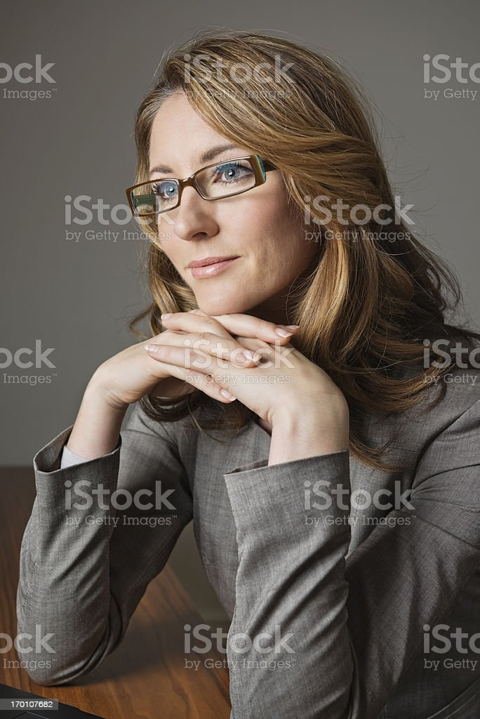 Thoughtful Businesswoman Looking Away royalty-free stock photo