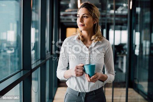 istock Thoughtful businesswoman looking away 934661982