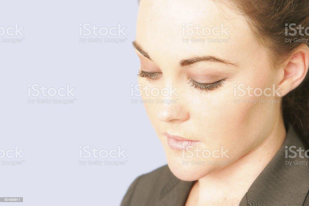 Thoughtful Businesswoman royalty-free stock photo