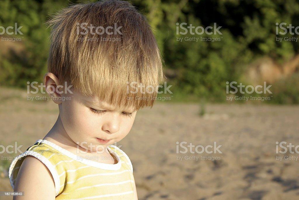 Thoughtful child royalty-free stock photo