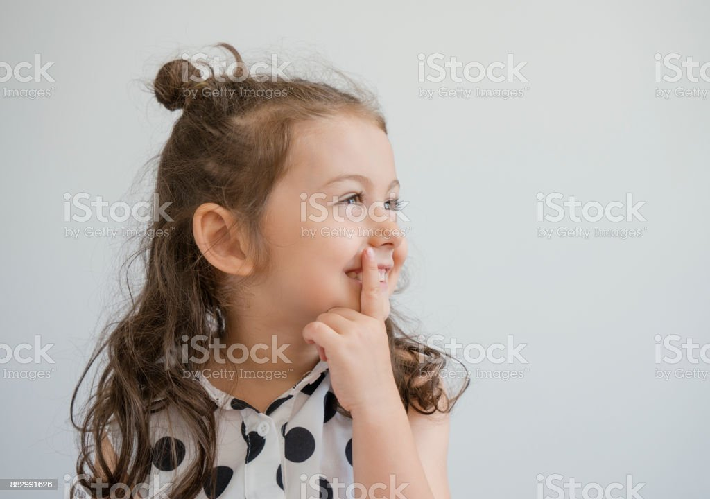 Thoughtful girl stock photo