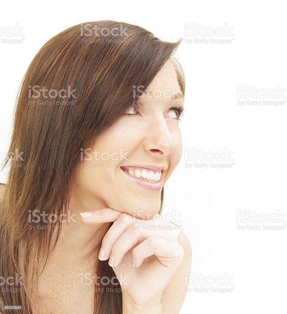 Thoughtful Grin royalty-free stock photo