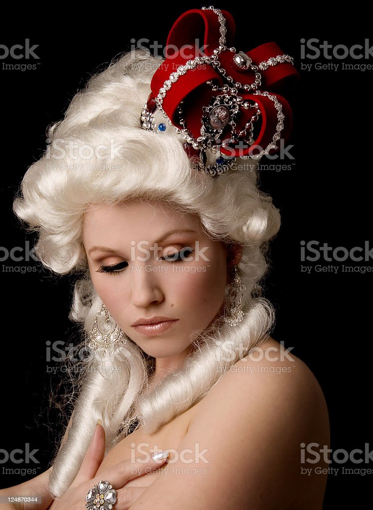 Thoughtful Queen royalty-free stock photo