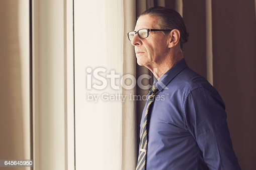 530281733istockphoto Thoughtful Senior Businessman Looking Out Window 645645950