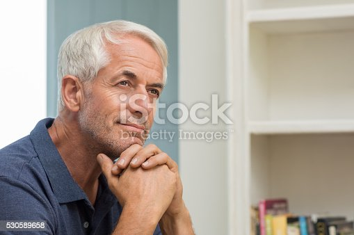 istock Thoughtful senior man 530589658