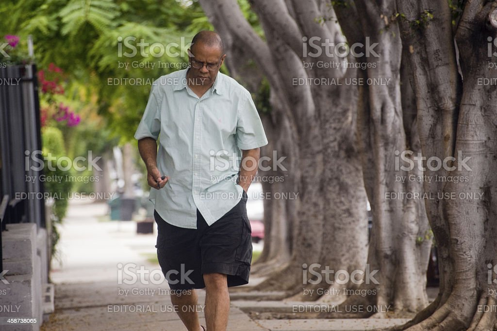 thoughtful walk royalty-free stock photo