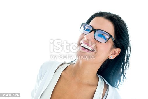 618976144 istock photo Thoughtful woman wearing glasses 494310224