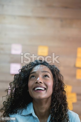 istock Thoughtful woman working at a creative office 912337886
