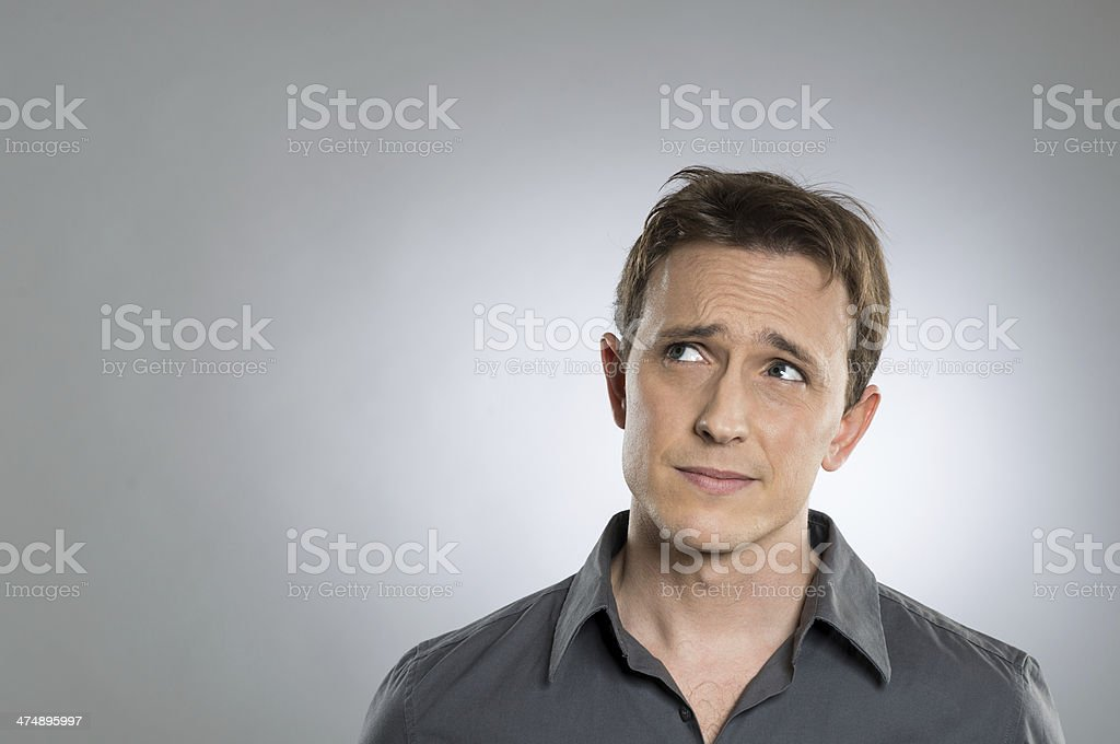 Thoughtful Young Man stock photo