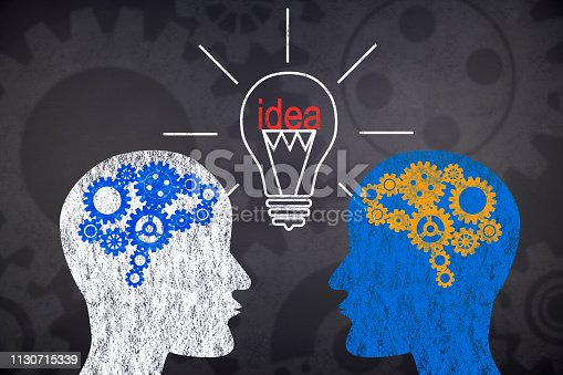 istock Thoughts connecting in two people 1130715339
