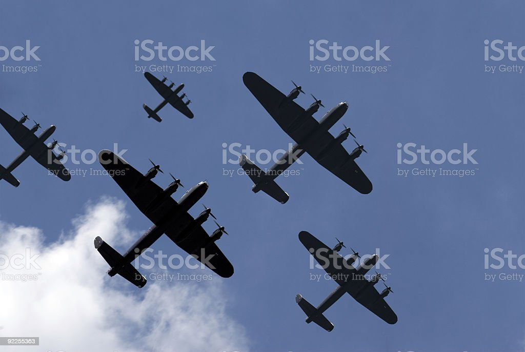 Thousand Bomber Raid stock photo