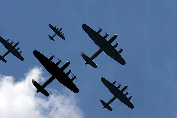 Thousand Bomber Raid  bomber plane stock pictures, royalty-free photos & images