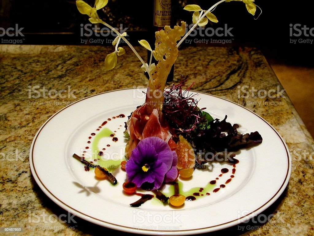 Thousand Dollar Dinner - Salad royalty-free stock photo