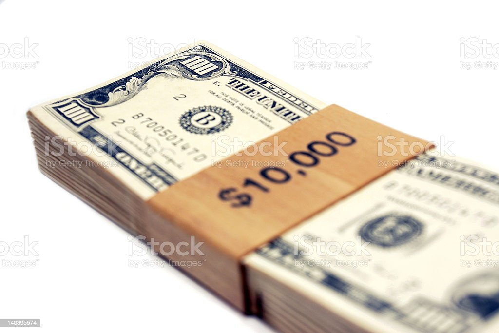 $10,000 Thousand Dollars royalty-free stock photo