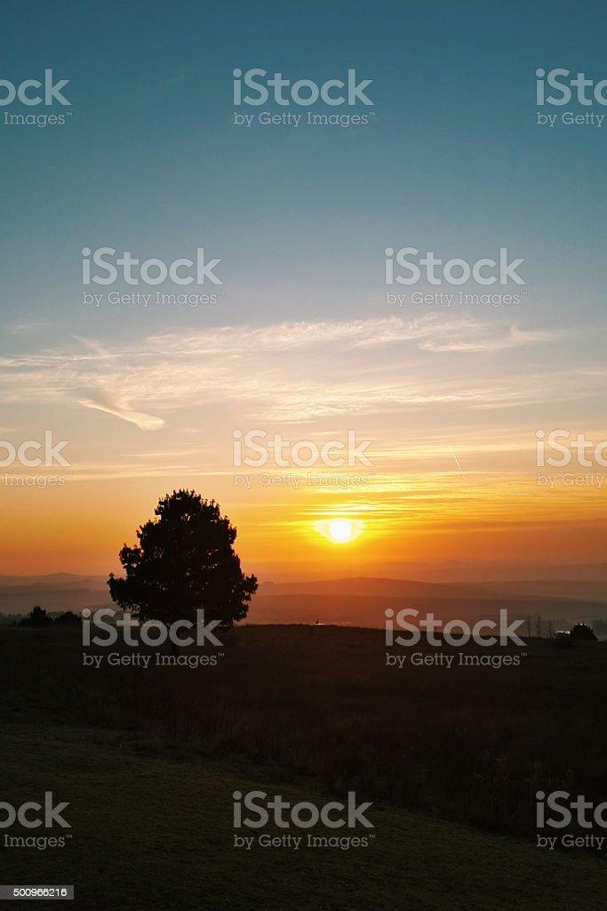 Thousand Hills Sunrise stock photo