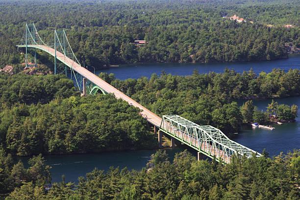 Thousand Island Bridge stock photo