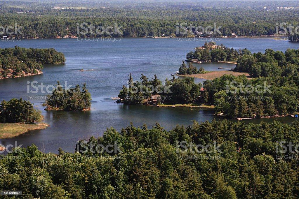 Thousand Island royalty-free stock photo
