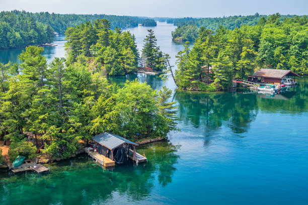 Thousand Islands National Park Canada and USA 1000 Islands stock photo