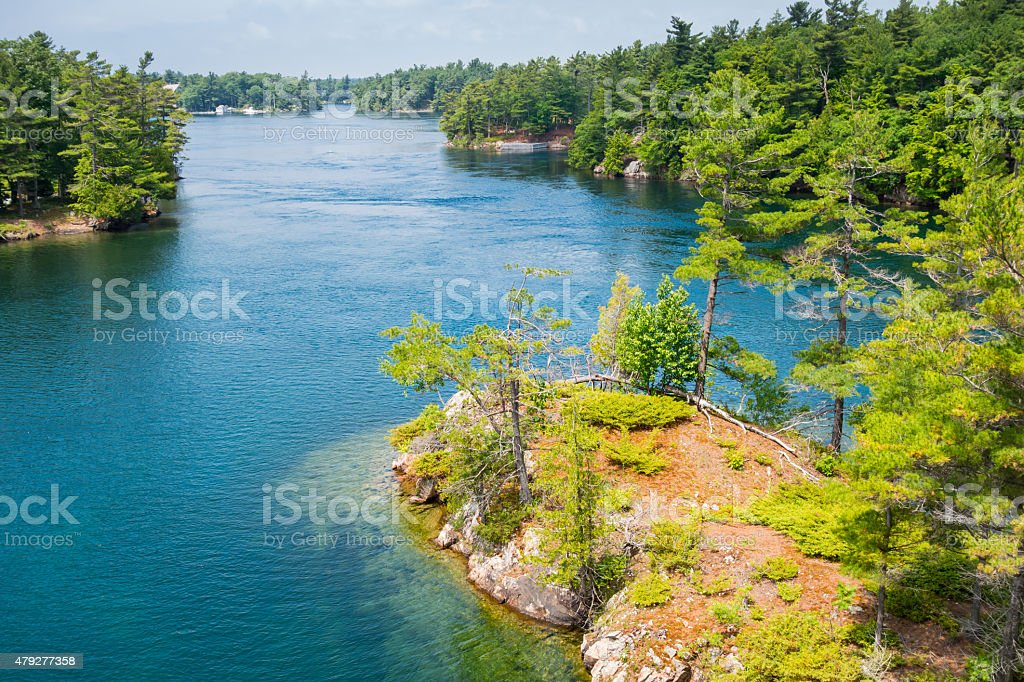 Thousand Islands New York State USA Ontario Canada stock photo