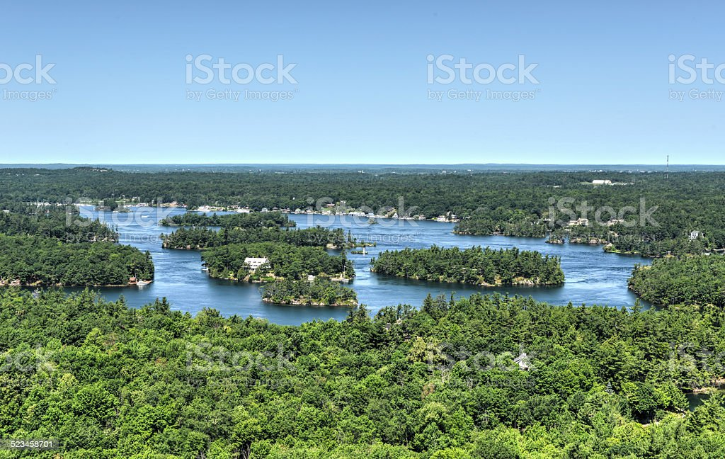 Thousand Islands Region from Above stock photo
