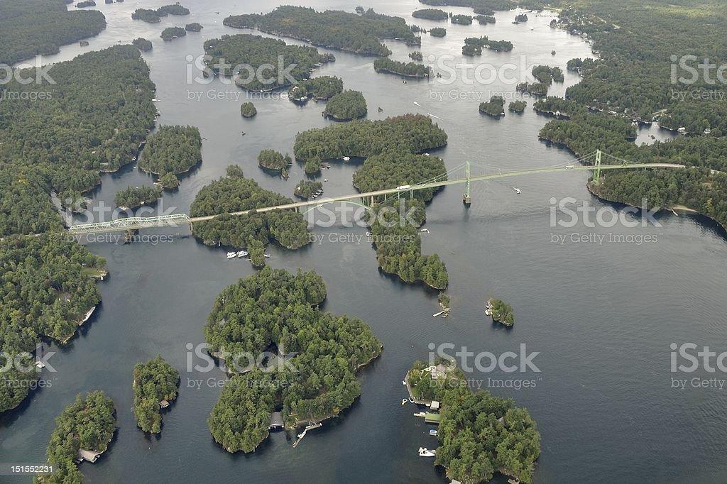 Thousand Islands Region - Lizenzfrei Brücke Stock-Foto