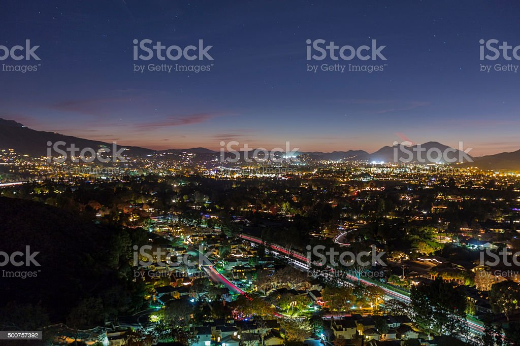 Thousand Oaks California Night stock photo