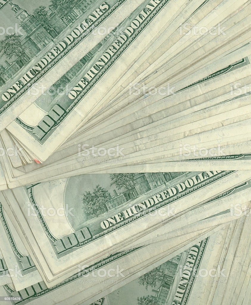thousands in hundreds royalty-free stock photo