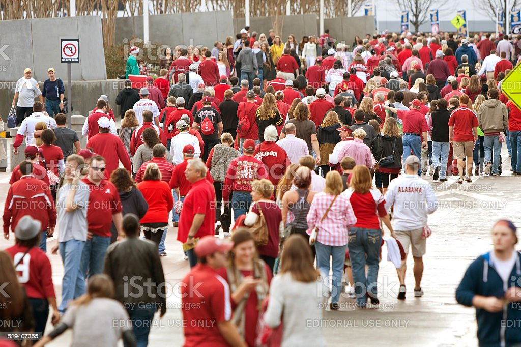 Thousands Of Alabama Fans Converge On The Georgia Dome stock photo